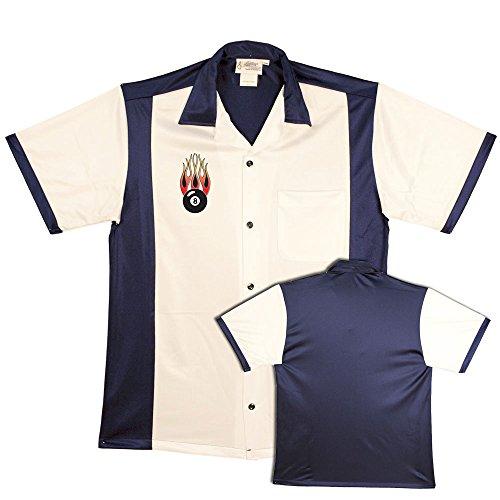 Flaming 8-Ball on Retro Bowling Shirts Cruisin Usa Bowling Shirts