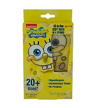 Amazoncom Spongebob Squarepants Body Wash Infused Sponge Pack Of