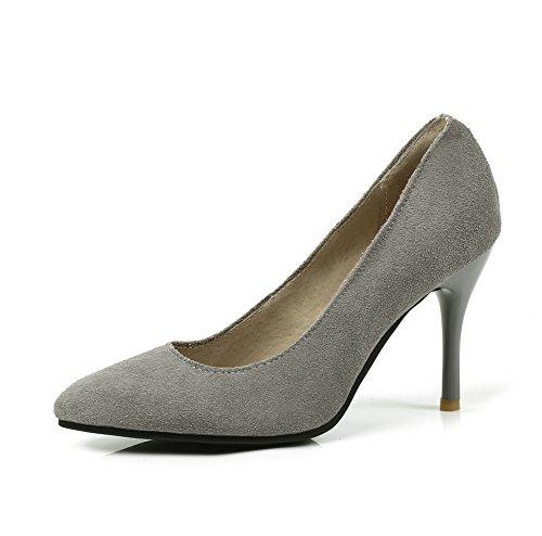 Stiletto Bouche Peu Profonde MEI Grey Chaussures Femmes Chaussures Hauts amp;S Talons p0qwx0A5