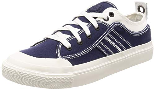 Diesel Men's S-ASTICO Low LACE-Sneakers, Star White/Peacoat Blue, 10 M US