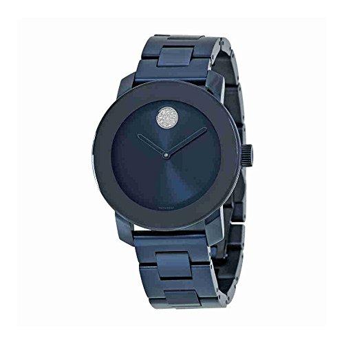 Women's Swiss Quartz Stainless Steel Watch, Color: Blue (Model: ) - Movado 3600388
