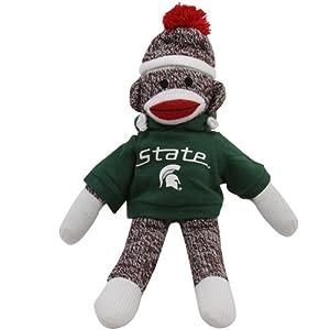 Michigan State Spartans 11'' Team Sock Monkey at 'Sock Monkeys'