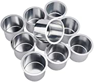 NovelBee 10 Pieces of Solid Aluminum Drop-in Drink Cup Holder for Boat,Table,Camper