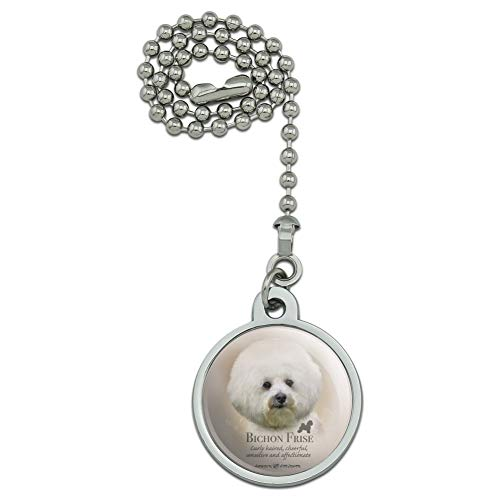 - GRAPHICS & MORE Bichon Frise Dog Breed Ceiling Fan and Light Pull Chain