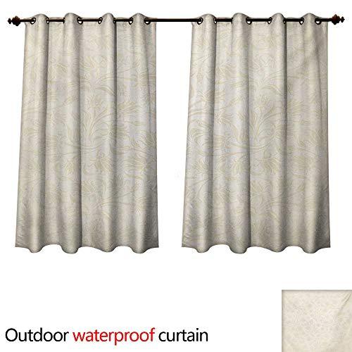 WilliamsDecor Ivory 0utdoor Curtains for Patio Waterproof Ba