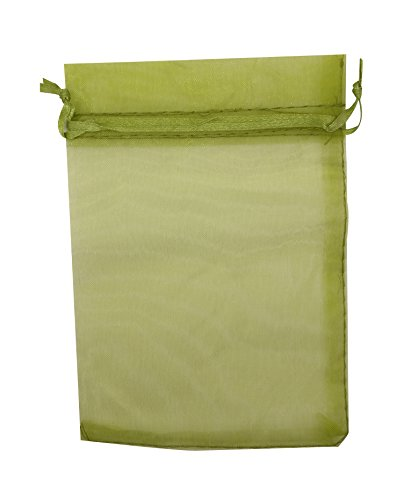 Green Organza Bags 4X6 - 9