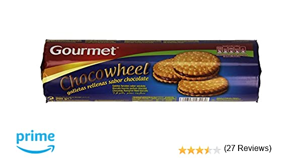 Gourmet Chocowheel Galletas Rellenas con Sabor a Chocolate - 250 g: Amazon.es: Amazon Pantry
