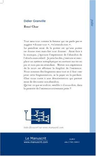 René Char : Hyperboréen (Poésie) (French Edition)