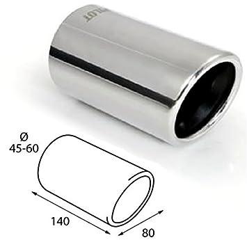 ER60025 - Acero inoxidable de tubo de escape del tubo de escape de para atornillar Embellecedor de tubos de escape universales: Amazon.es: Coche y moto