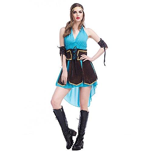 Female Robin Hood Fancy Dress (Halloween Robin Hood Royal Medieval Women Maid Fancy Dress Costume Party)