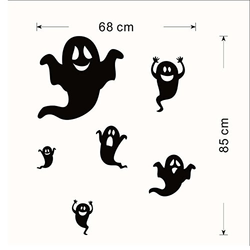 JUNGSON--Halloween Ghost Design Decal Wall Sticker Art Kids Children Living Room (Adult Elegant Coffin)