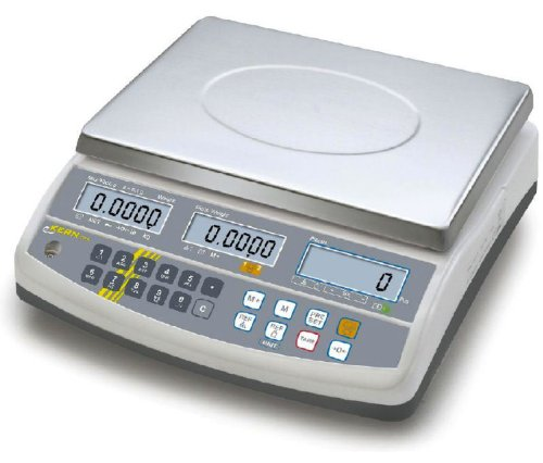 Professional counting balance with 100 item memories and second balance interface [Kern CFS 30K0.5] Precision up to 0,5 g, Weighing range max. 0,5 g