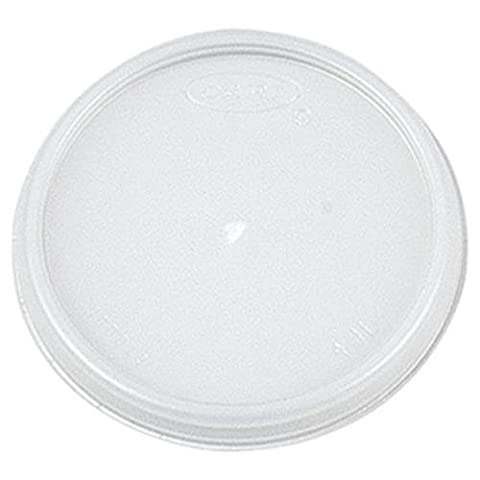 Dart Container 4JL Vented Plastic Lids for 4 Ounce Hot/Cold Foam Cups (4JLDART) Category: Cup Lids - Dart Vented Lid