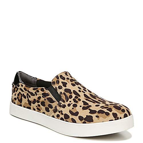Dr. Scholl's Shoes Women's Madison Loafer, Tan/Black Leopard Microfiber, 7.5 M US (Dr Scholls Womens Madison Slip On Sneaker)