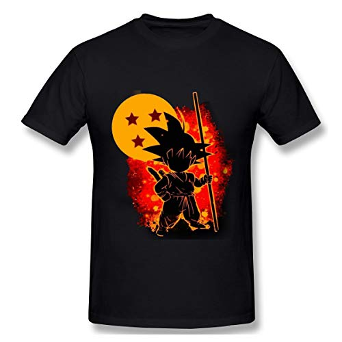 Dowenning Majin Buu Frieza Dragon Ball FighterZ Goku Vegeta Mens T-Shirt Black M (Goku Vs Majin Buu Final Battle Full Fight)