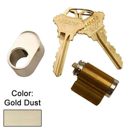 Andersen Hinged Exterior Keyed Lock in Gold Dust Color 1988 to Present (Door Patio Locks Andersen Keyed)