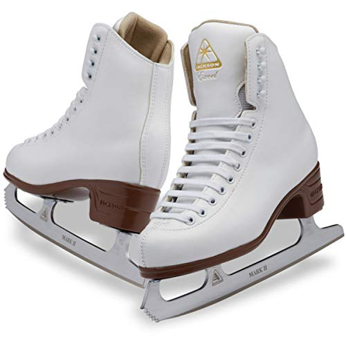 Jackson Ultima Excel JS1291 White Kids Ice Skates with Mark II blades, Width C, Youth 2