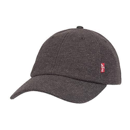 (Levi's Men's Petite Brushed Twill Baseball Dad Hat, Black Pique, One Size)