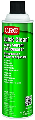 CRC Quick Clean Safety Solvent and Degreaser, 19 oz Aerosol Can, Clear - Solvents Chlorinated