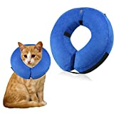 GeiGei Protective Inflatable Collar for Dogs and Cats - Soft Pet Recovery Collar Does Not Block Vision E-Collar (S)