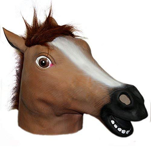 (Hotportgift Horse Head Mask Creepy Halloween Costume Theater Prop Novelty)