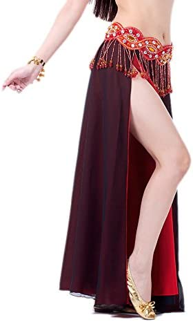C823 Belly Dance Costume Exercise Clothes 2 Pieces Upper Top Skirt