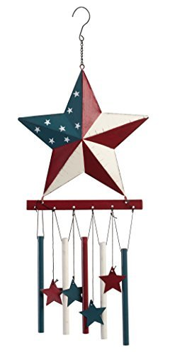 Miles Kimball Barn Star Wind Chime by Maple Lane Creations, 8