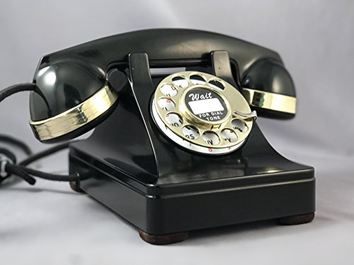 Phone 302 (Original Western Electric Model 302 Telephone - Brass Trim with Rotatone Converter)