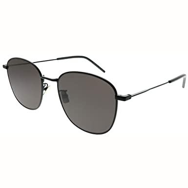 4f7bc3ecf870 Image Unavailable. Image not available for. Color: Saint Laurent SL 273/K  001 Black Metal Square Sunglasses ...