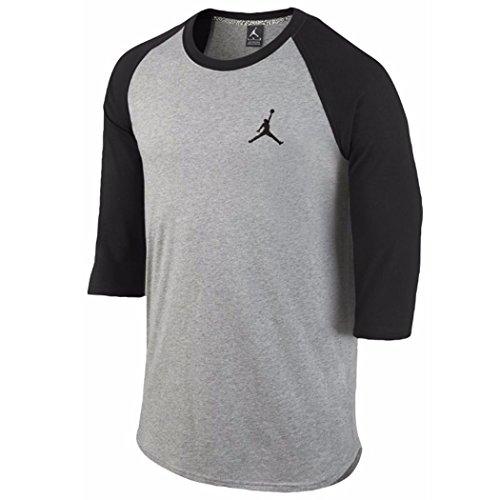 Luft Jordan Mens Kärna 3/4 Hylsa Reglan Shirt Svart / Grå