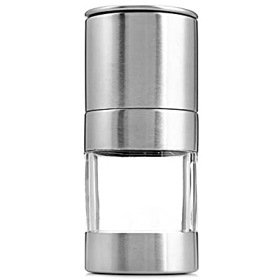 Najer Portable Stainless Steel Manual Salt Pepper Spice Mill Grinder Set Kitchen Accessaries