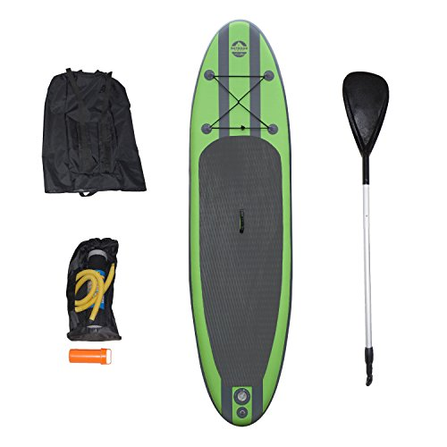 Outdoor Tuff SUP OTF-10326SUP Inflatable Backpack Paddle Board Sport with Adjustable Paddle, 275-Pound Capacity by Outdoor Tuff
