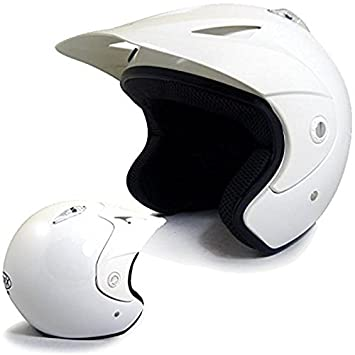 Quad Doug casco de moto para trial, color blanco