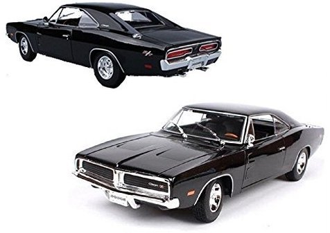 18 1969 Dodge Charger - New Maisto MAISTO 1:18 1969 DODGE CHARGER R/T DIECAST MODEL CAR BLACK 31387