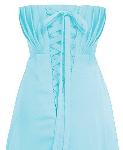 Con Una Bella Hell Fashion Chiffon Plaza Allentato Da Sera Abito Cintura In D004 Mod Lungo Blau vz6rw8vq4