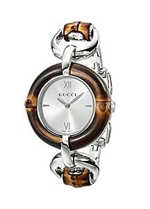 Gucci Women's YA132403 Bamboo Silver Sun-Brushed Dial Watch