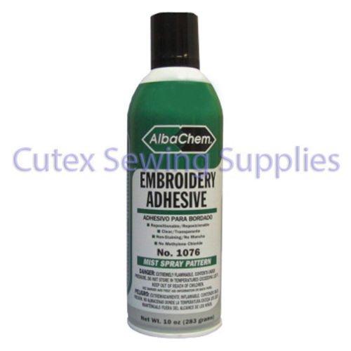 AlbaChem Embroidery Adhesive Spray 10 oz. Can 1076