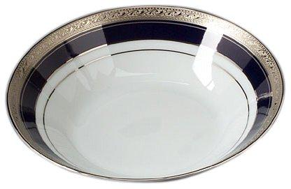 Noritake Crestwood Cobalt Platinum Soup - Noritake Porcelain Bowls