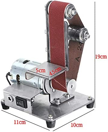 Syfinee Mini Belt Sander Sand-belt Machine Desktop Sander Belt Sanding Grinding Machine Electric DIY Polishing Machine Abrasive Belts Grinder Polishing