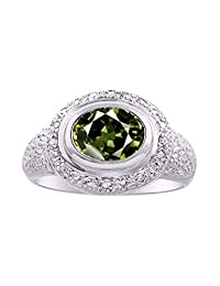RYLOS Classic Ladies Ring Oval Precious Gemstone & Genuine Sparkling Diamonds in Sterling Silver .925-9X7MM Emerald, Ruby and Sapphire