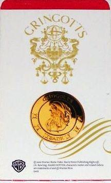Harry Potter Gringotts Galleon Golden Coin