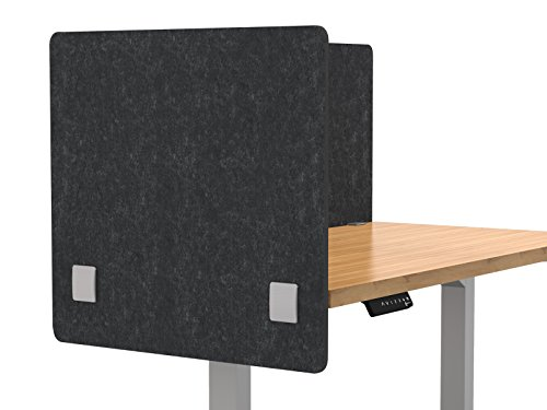 """Merge Works Acoustic Partition, Sound Absorbing Desk Divider – 24"""" W x 24""""H Privacy Desk Mounted Cubicle Panel, Gray by Merge Works"""