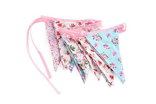ASVP Shop Handmade Tea Party Bunting Vintage Style Fabric Floral  Gingham Weddings by ASVP Shop