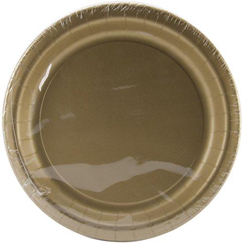 Glittering Gold Paper Dinner Plates, 24 pack