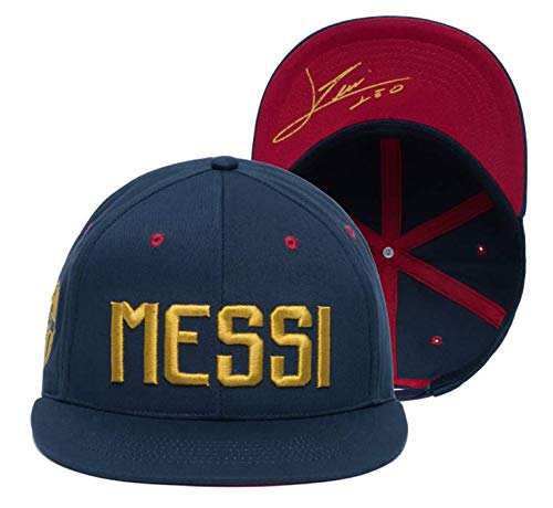 e2379f7599506 BARCELONA LIONEL MESSI FLAT PEAK SNAPBACK HAT.NEW