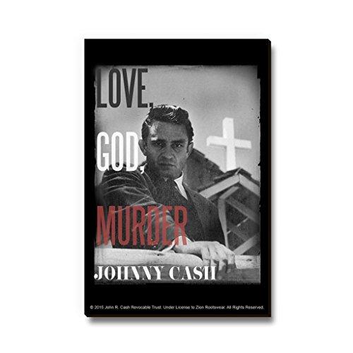 Bravado Johnny Cash Love God Murder Fridge Magnet