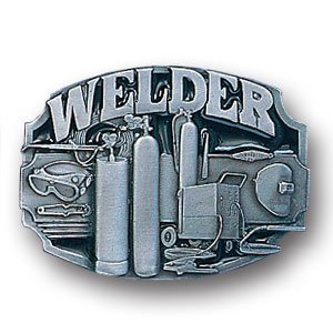Pewter Belt Buckle - Welder Tools - Pewter Belt Buckle