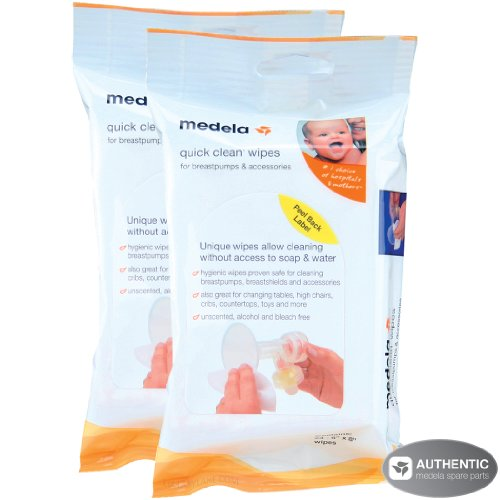 Medela Quick Clean Breastpump & Accessory Wipes – 24 Pack (Set of 2)