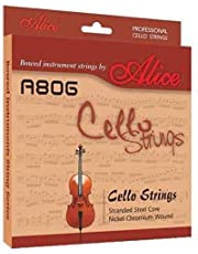 Alice A806 Cello Strings Set A D G C String Full Size 4/4 3/4