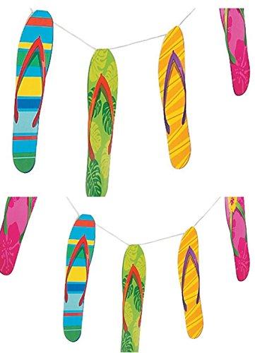 Tropical Luau Flip Flop (1- Flip Flop Garland - Luau Garland)